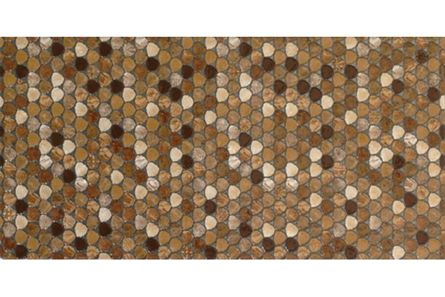 Solid marron decor 25x50