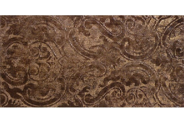 Solid Damasco marron decor 25x50