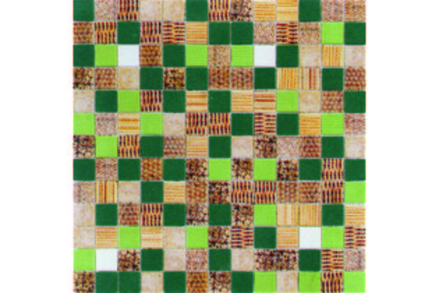Ink fabric green 33,3x33,3 mat
